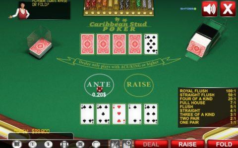 Kartanje pokera online - Caribbean stud poker
