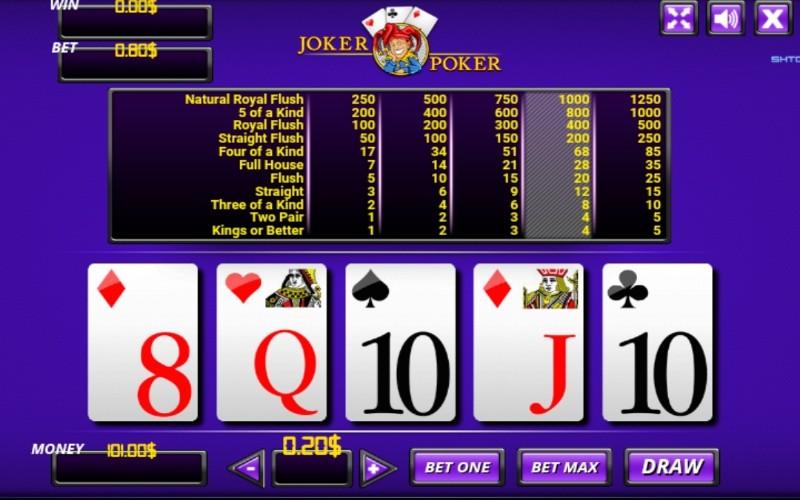 Poker automat online - Joker poker