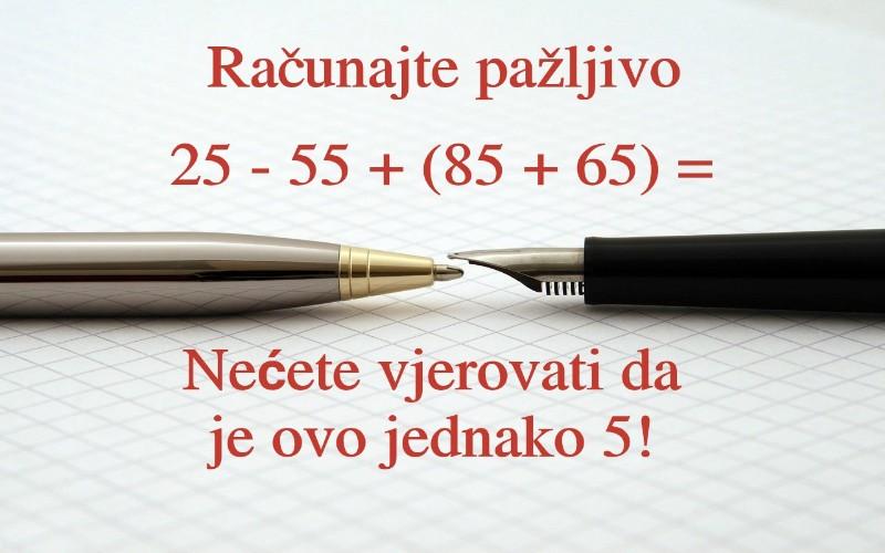Matematičke pitalice - Zanimljivi matematički zadaci