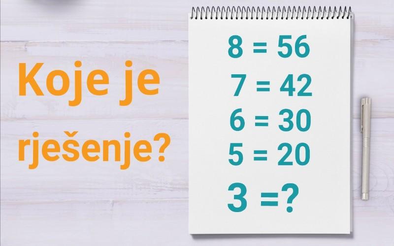 Matematički zadaci - Geniji riješe ovaj zadatak u minuti
