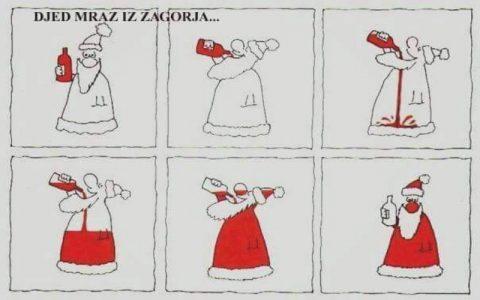 Smiješne slike Djeda Mraza - Nije Djed Mraz svagdje isti