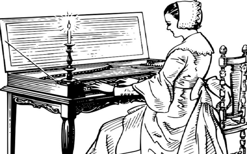Glazbala s tipkama - Klavikord