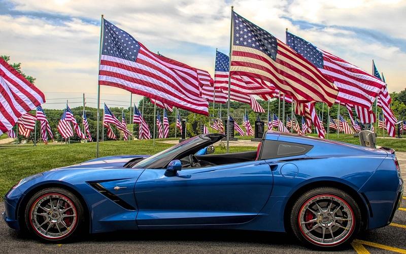 Sportski auti - Blue Corvette