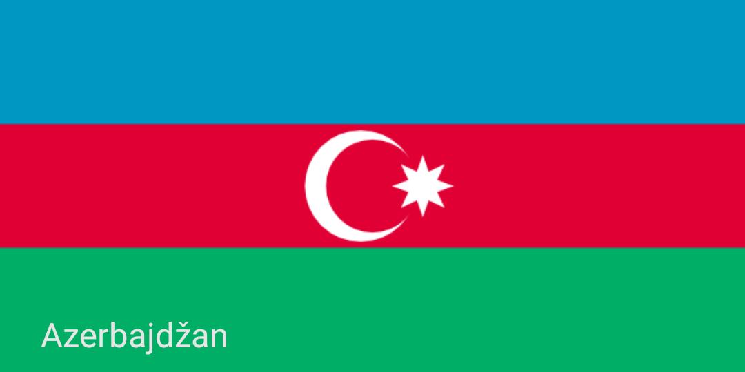 Zastave svijeta - Azerbajdžan