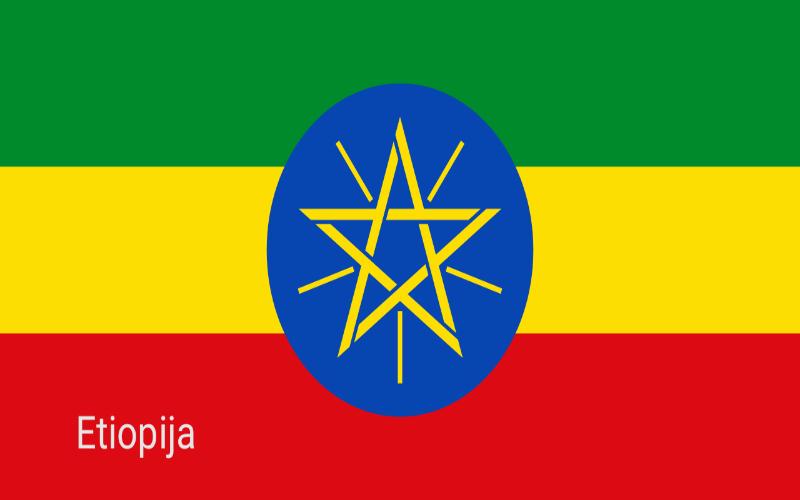 Zastave svijeta - Etiopija