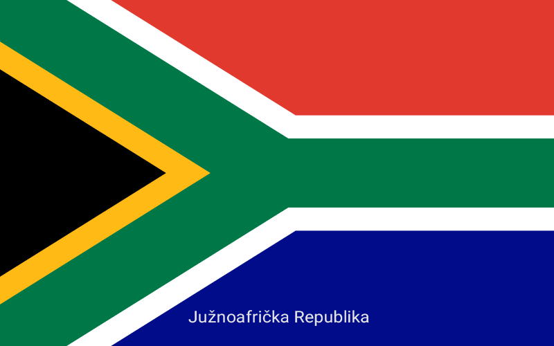 Zastave svijeta - Južnoafrička Republika