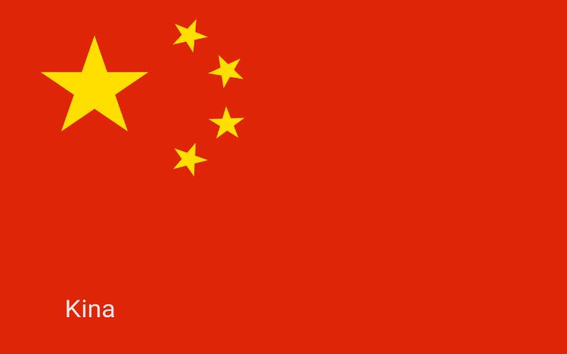 Zastave svijeta - Kina