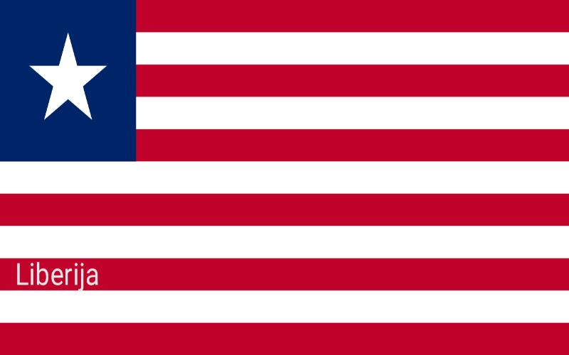 Zastave svijeta - Liberija