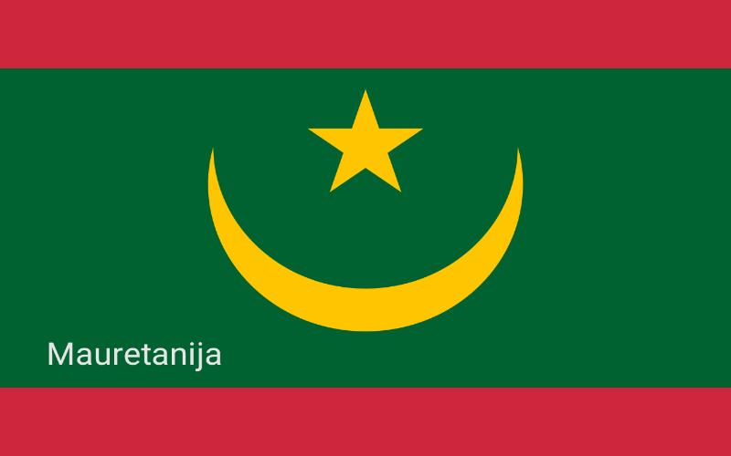 Zastave svijeta - Mauretanija