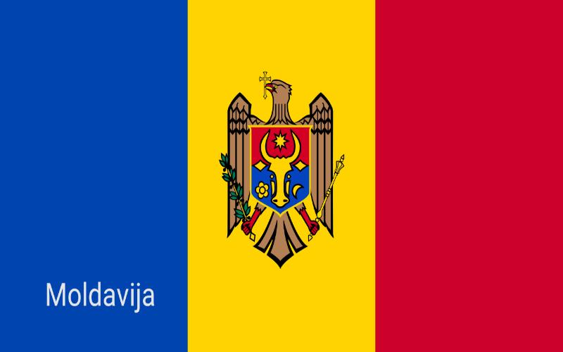 Zastave svijeta - Moldavija