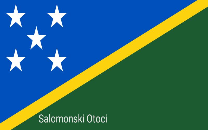 Zastave svijeta - Salomonski Otoci