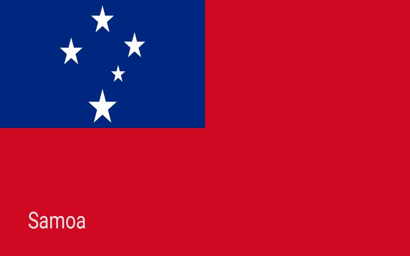 Zastave svijeta - Samoa