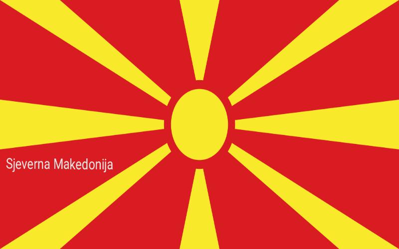 Zastave svijeta - Sjeverna Makedonija
