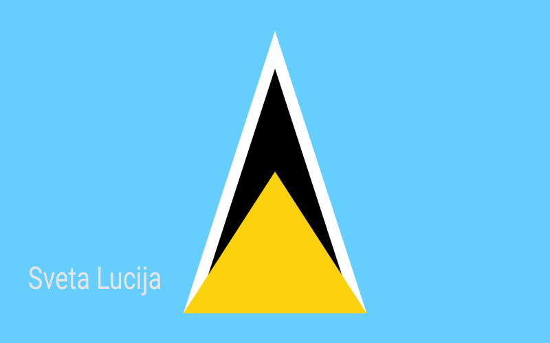 Zastave svijeta - Sveta Lucija