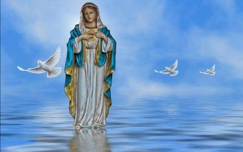 Blažena Djevica Marija na slikama i neki sveti citati