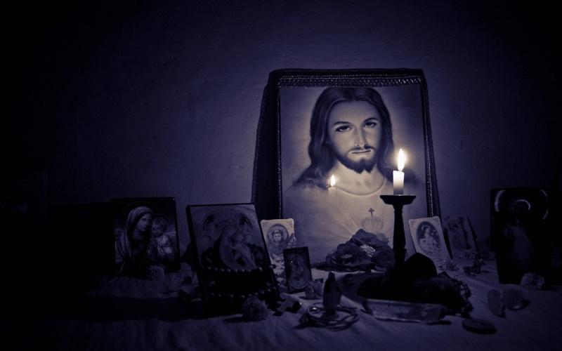 Isus Krist i oltar