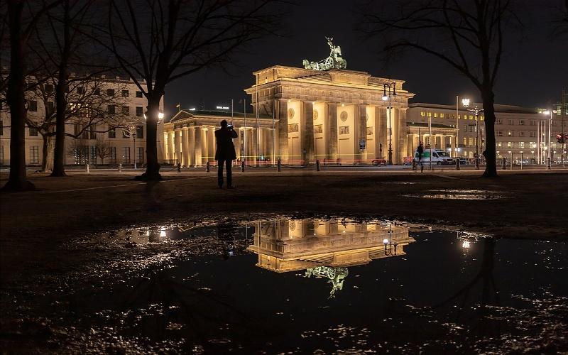 Glavni gradovi Europe Berlin i Brandenburška vrata