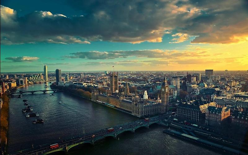 Glavni gradovi Europe London i rijeka Temza