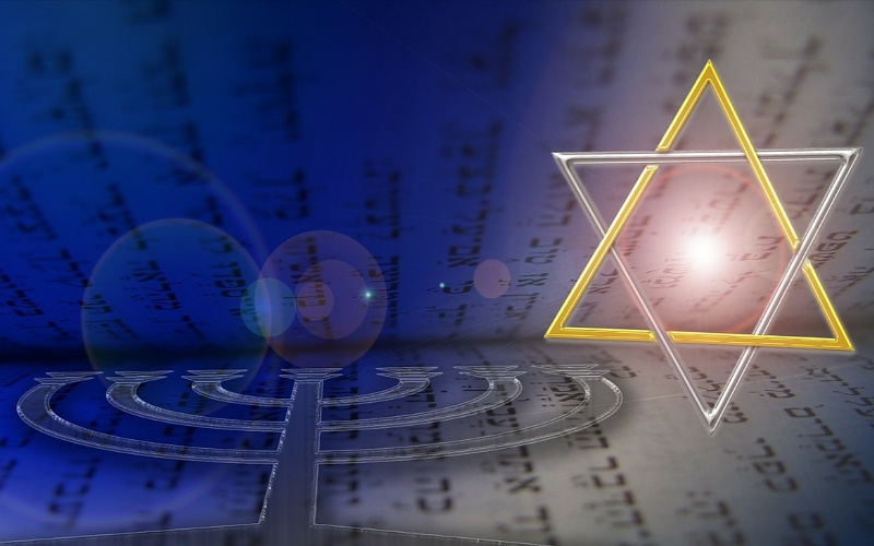 Vjerske slike Menora i Davidova zvijezda