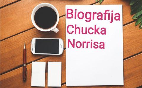 Biografija Chucka Norrisa - Biografije poznatih