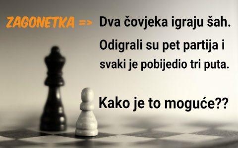 Rješavanje zagonetke što se tiče pet partija šaha