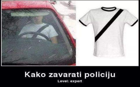 Smiješne slike auta - Kako zavarati policiju