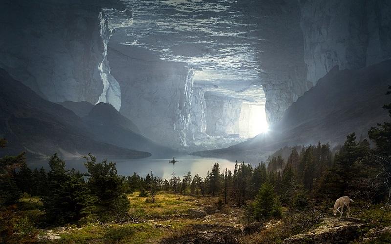 Fantastične fotografije - pećina i jezero